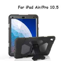 """ACEGUARDER iPad Air 10.5"""" 2019/iPad Pro 10.5 2017 Kids Case, Ultra Protective Shockproof Impact Resistant Rugged Cover with Kickstand - Classic Black"""