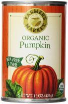 Farmer's Market Foods, Organic Canned Pumpkin, 15 Ounce