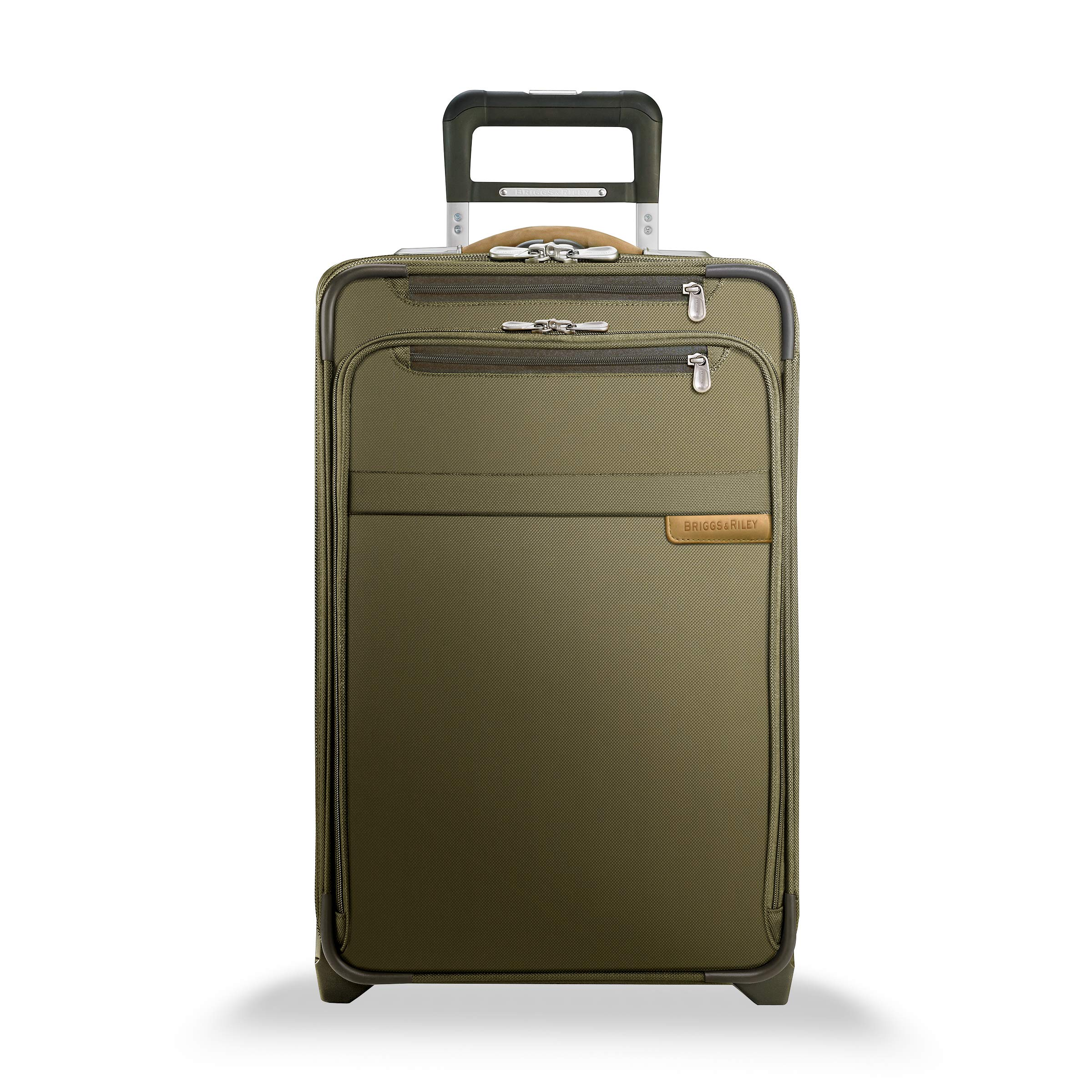 Briggs & Riley Baseline-Softside CX Expandable Carry-On Upright Luggage, Olive, 22-Inch