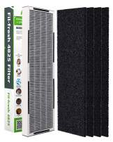Fil-fresh FLT4825 Air HEPA Filter B Replacement for GermGuardian AC4825 AC4825E, 2-in-1 Design Carbon True HEPA Filter and Carbon Pre-Filter Set for One-Year Use