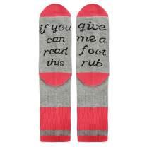 Zmart Reading Game Golf Soccer Football Book Funny Saying Socks, Gift for Women Girls