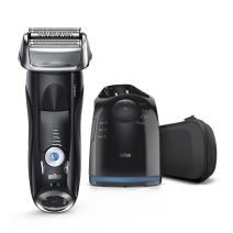 Electric Razor for Men By Braun, Series 7 7880CC Electric Shaver With Precision Trimmer, Rechargeable, Wet & Dry Foil Shaver, Clean & Charge Station & Travel Case