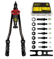 Rivet Gun Tool - 17 inch rivet nut kit Aditomo nutsert tool more easy to use effortless operation heavy duty with 7 mandrels 200 nuts