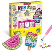 Creativity for Kids Big Gem Diamond Painting Kit - Create Your Own Sweets Diamond Art Stickers & Suncatchers - Diamond Art for Kids