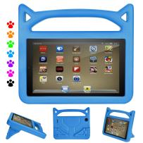 DiHines Fire 7 Tablet Case,Kid-Proof Light Weight Protective Handle Stand Case for Amazon Fire 7 Tablet (Compatible with 2015&2017&2019 Release) Blue