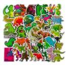 Cartoon Dinosaur Vinyl Sticker for Children for Laptop Water Bottle Snowboard Car Suitcase Helmet Bicycle Guitar Door Travel Luggage Phone Case DIY Decoration Fashionable Waterproof Decal (50pcs)