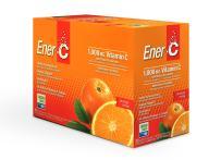Ener-C - Vitamin C Immune Support, 1000mg Vitamin C Effervescent Multivitamin Drink Powder, Fruit Juice Vitamin C Drink Mix for Hydration with Electrolytes, Orange, 30 Packets