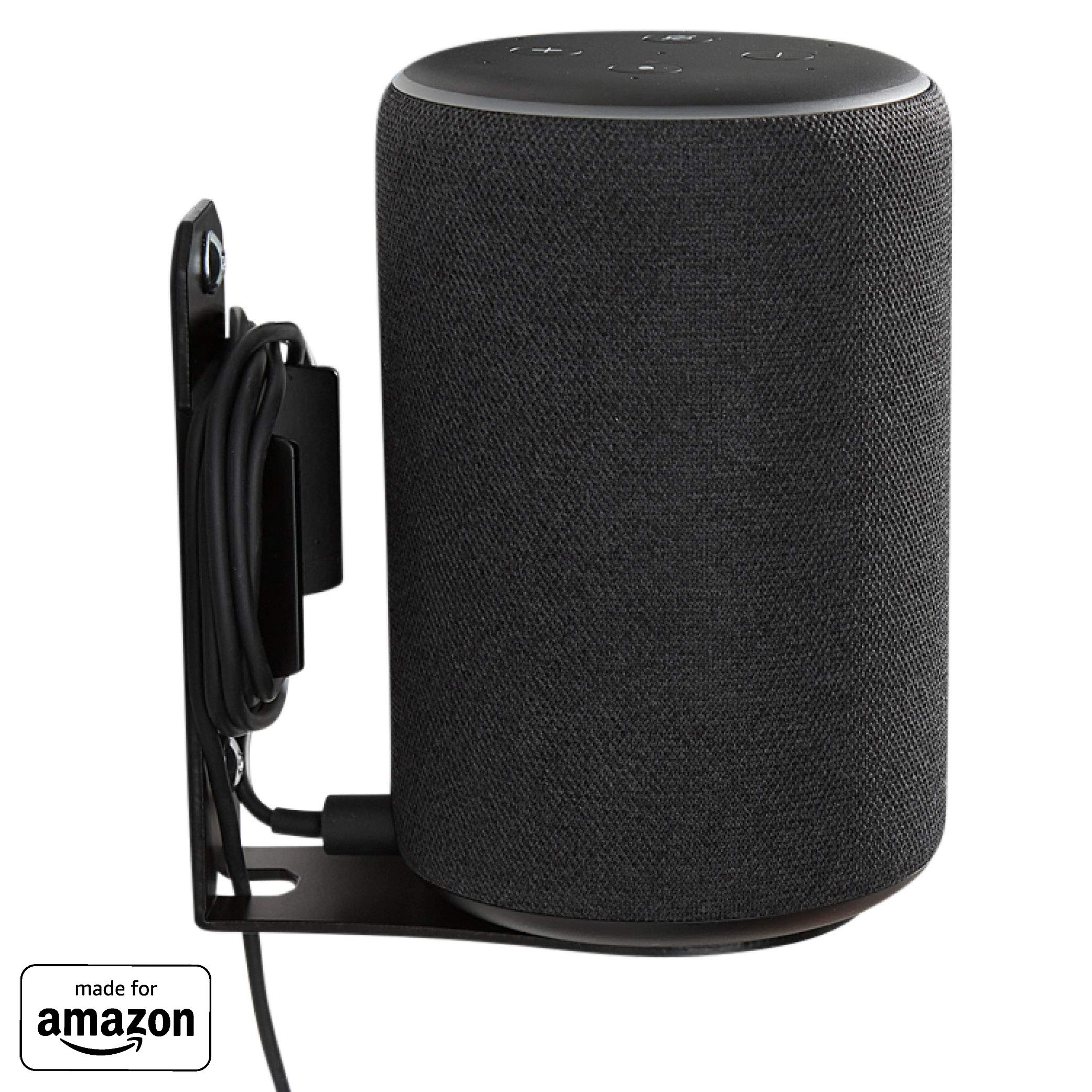 """""""Made for Amazon"""" Wall Mount for Echo (2nd Gen or 3rd Gen) and Echo Plus (2nd Gen) - Black"""
