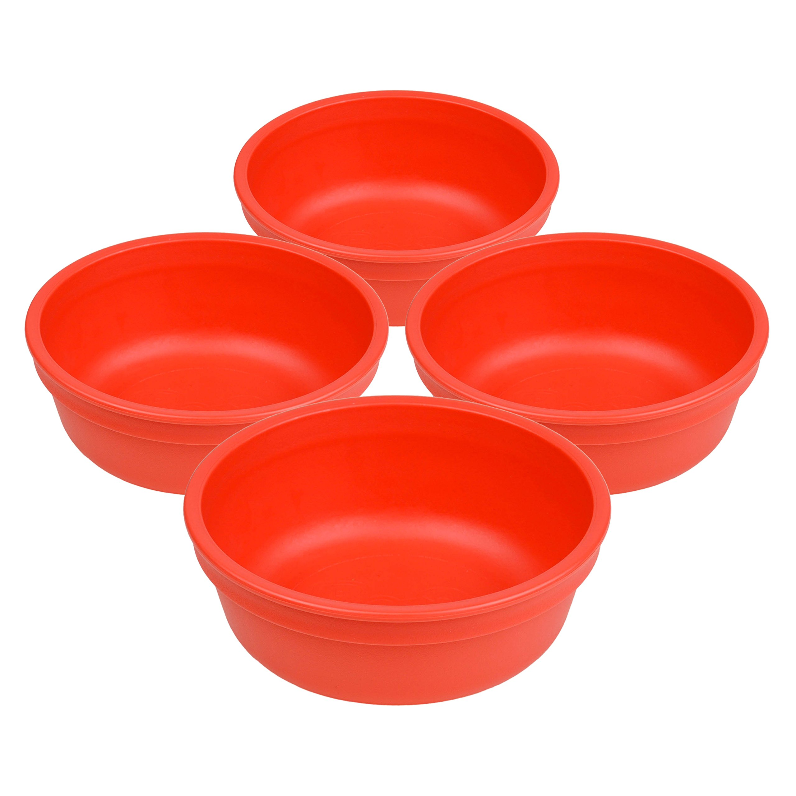 """Set of 4 - Re-Play Made in USA 5"""" Heavy Duty Red Bowls 
