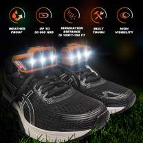 SOL STRONG Night Running Shoe Lights - Easy Installation on Shoes for Running & Dog Walking at Night - Running Gear - Waterproof - Battery Operated Lights (2 x AAA)
