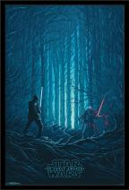 """Trends International 24x36 Star Wars: The Last Jedi - Standoff, 24"""" x 36"""", Black Framed Version"""