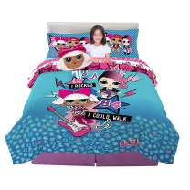 Franco Kids Bedding Super Soft Comforter with Sheets and Plush Cuddle Pillow Set, 6 Piece Full Size, LOL Surprise!