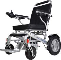 Miracle Mobility Freedom Series Gold XLD10 Electric Folding Mobility Wheelchair with Two 250W Motors and Two 24V, 144Wh Lithium Ion Batteries, Silver