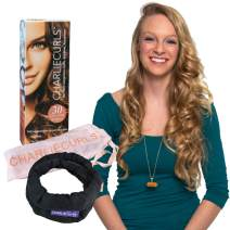 CharlieCurls: On The Go, One-Piece, Easiest ever No Heat Hair Curler (Black (Box))