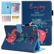 Dteck iPad Mini 1/2/3/4 Case - Slim Fit Premium PU Leather [Multi-Angle View] Folio Stand Wallet Cover with Auto Wake/Sleep Smart for Apple iPad Mini 1/Mini 2/Mini 3/Mini 4, Dumbo