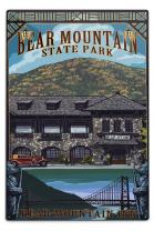 Lantern Press Bear Mountain Park, New York, Bear Mountain Inn (12x18 Aluminum Wall Sign, Wall Decor Ready to Hang)
