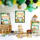 Jungle Safari Dessert Table Favors Welcome Sign Food Labels Cards Thanks Tags For Jungle Safari Animals Baby Shower Kids Boys Wild One Birthday Party Bar Sign Decorations Supplies