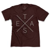 Simple and Contemporary Texas Pride Big X T-Shirt