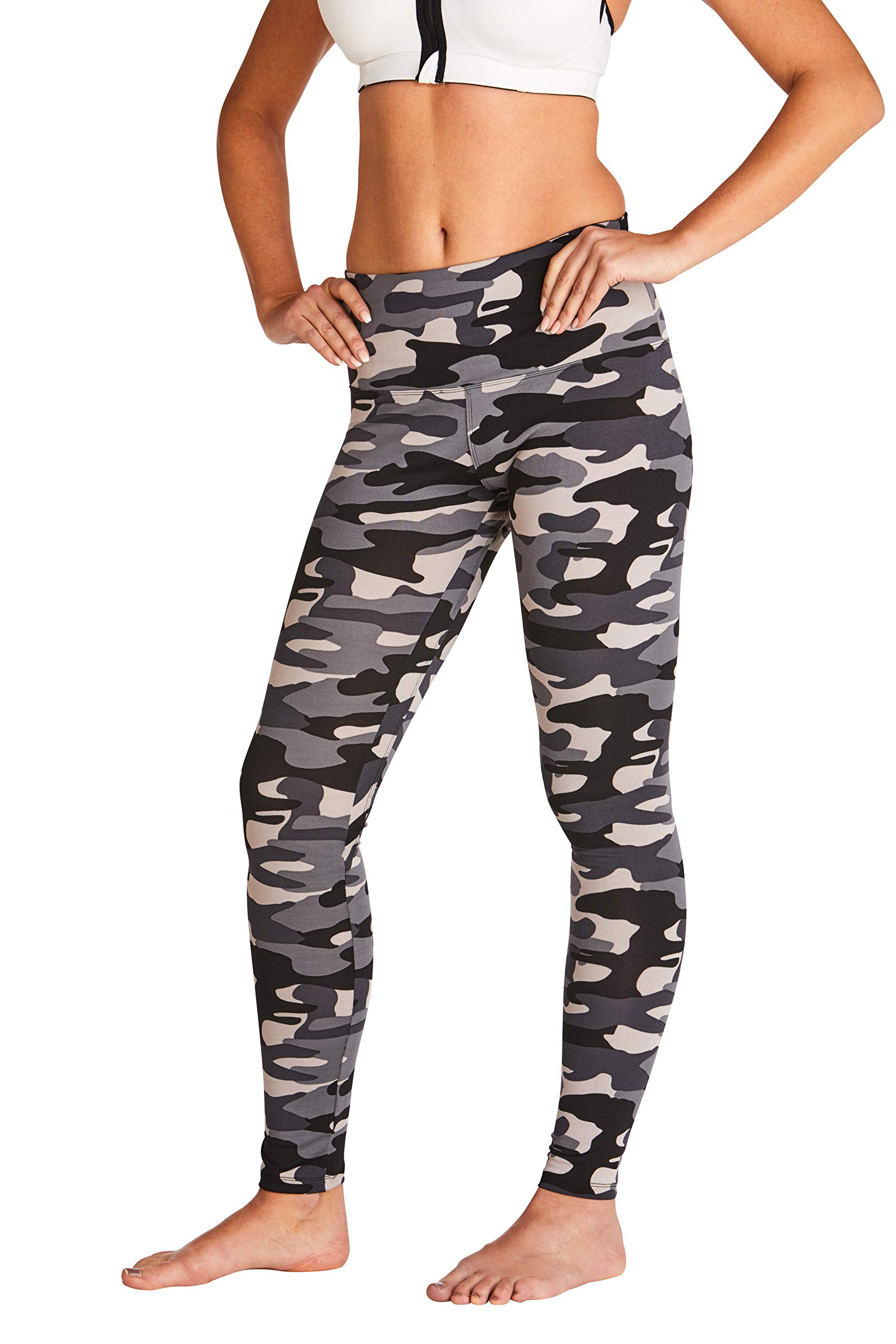 WEST ZERO TWO Leggings-High Rise Yoga Pants with Tummy Control, High Waisted Fitness Workout Activewear, Ankle Length