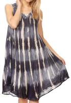 Sakkas Milly Women's Midi Loose Casual Summer Sleeveless Dress Sundress Cover-up