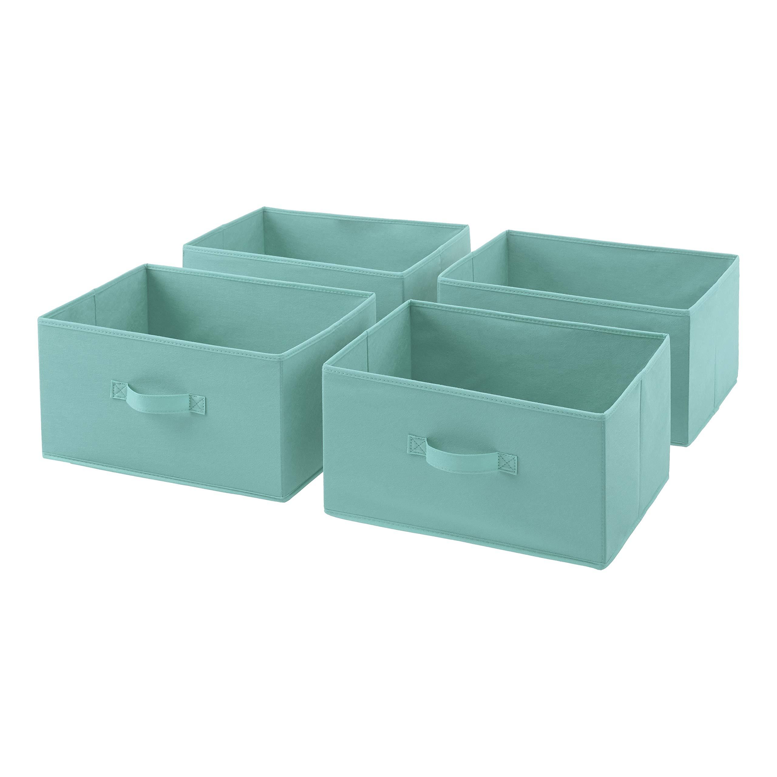 AmazonBasics Fabric 4-Drawer Storage Organizer - Replacement Drawers, Mint Green