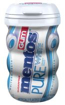 Mentos Pure White Sugar-Free Chewing Gum With Xylitol, Sweet Mint, 50Piece Bottle