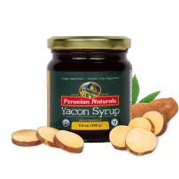Yacon Syrup Organic All-Natural, 250 Grams, Low Calorie Sugar Substitute for Weight Loss, Keto Diet and Blood Glucose Control, Gluten Free- Peruvian Naturals