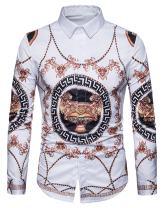WHATLEES Mens Fashion Luxury Casual Slim Fit Stylish Long Sleeve Dress Shirts