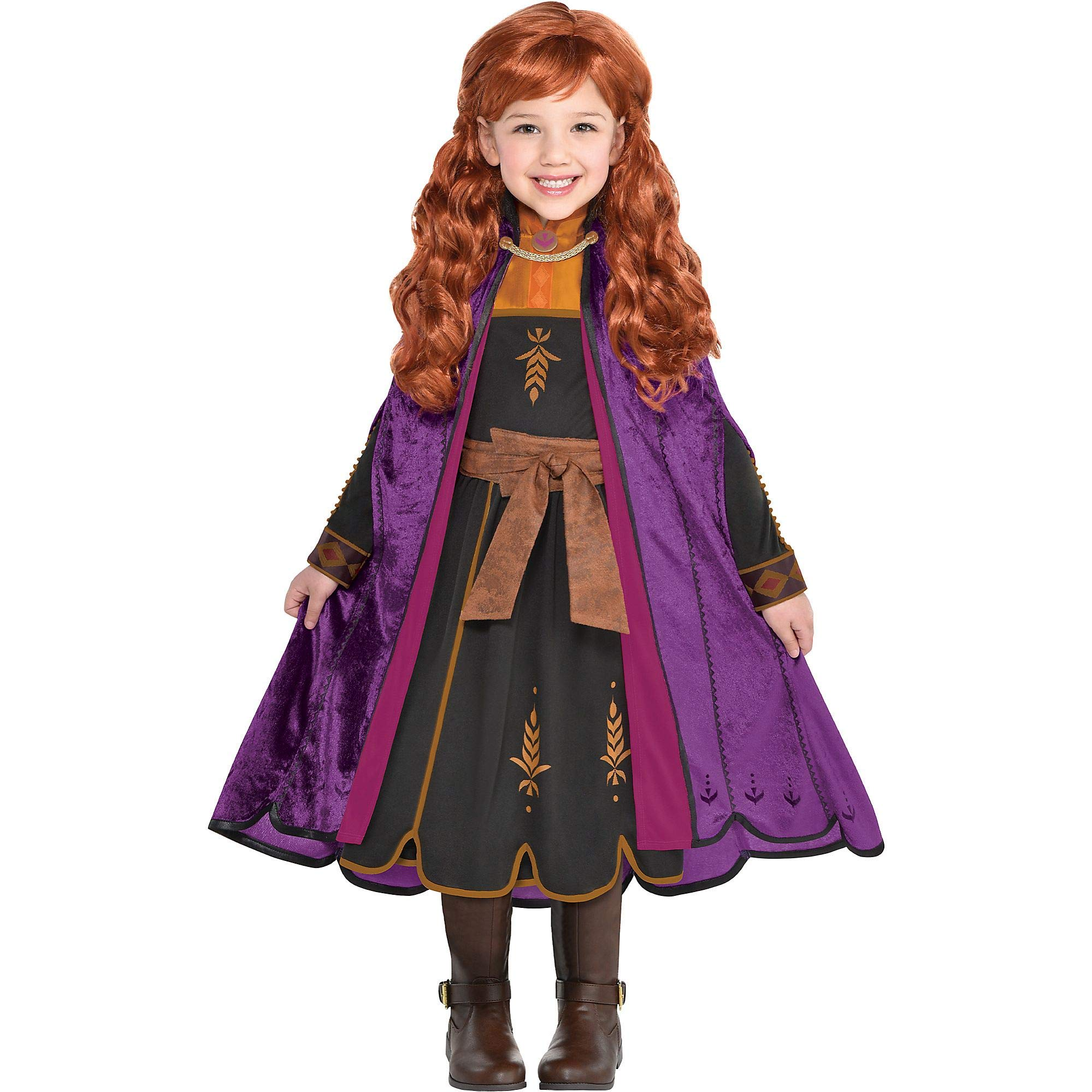 Party City Frozen 2 Halloween Costume for Girls or Women, Anna and Elsa, Includes Wig, Dress and Accessories