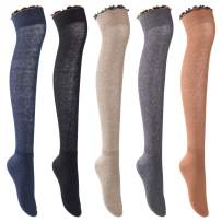 Lovely Annie Incredible Women's Thigh High Cotton Boot Socks L1856 Size 5-11
