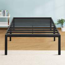 PrimaSleep 14 Inch Dura Supprot Platform Steel Bed Frame/ Holding Mattress Structure/ Easy Assembly/ Enough under Storage Twin