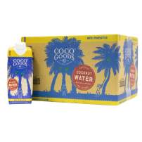 CocoGoodsCo Single-Origin Natural Coconut Water with Fresh Pineapple Juice 16.9 fl. oz (Pack of 12)