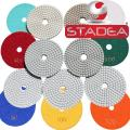 4 inch wet dry diamond polishing pads - For Granite Concrete Travertine Marble Polishing 7 Pcs Set By STADEA