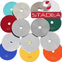 4 inch diamond concrete polishing pads - Granite Marble Stone Polishing 8 Pcs Set By STADEA