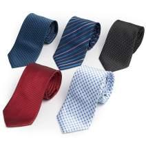 Men's Ties 5 or 10 Pack Classic Necktie Set multi color necktie