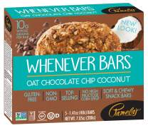 Pamela's Products Gluten Free Whenever Bars, Oat Chocolate Chip Coconut, 5 Count Box, 7.05-Ounce (Pack of 6)