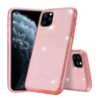 """Polaland iPhone 11 Pro Max Case, Women Cute Sparkle Glitter 3 in 1 Bling Luxury Shiny Hybrid Layer and Soft Shell with Hard Plastic Slim Girls Cover for iPhone 11 Pro Max 6.5"""" (2019) -Pink"""