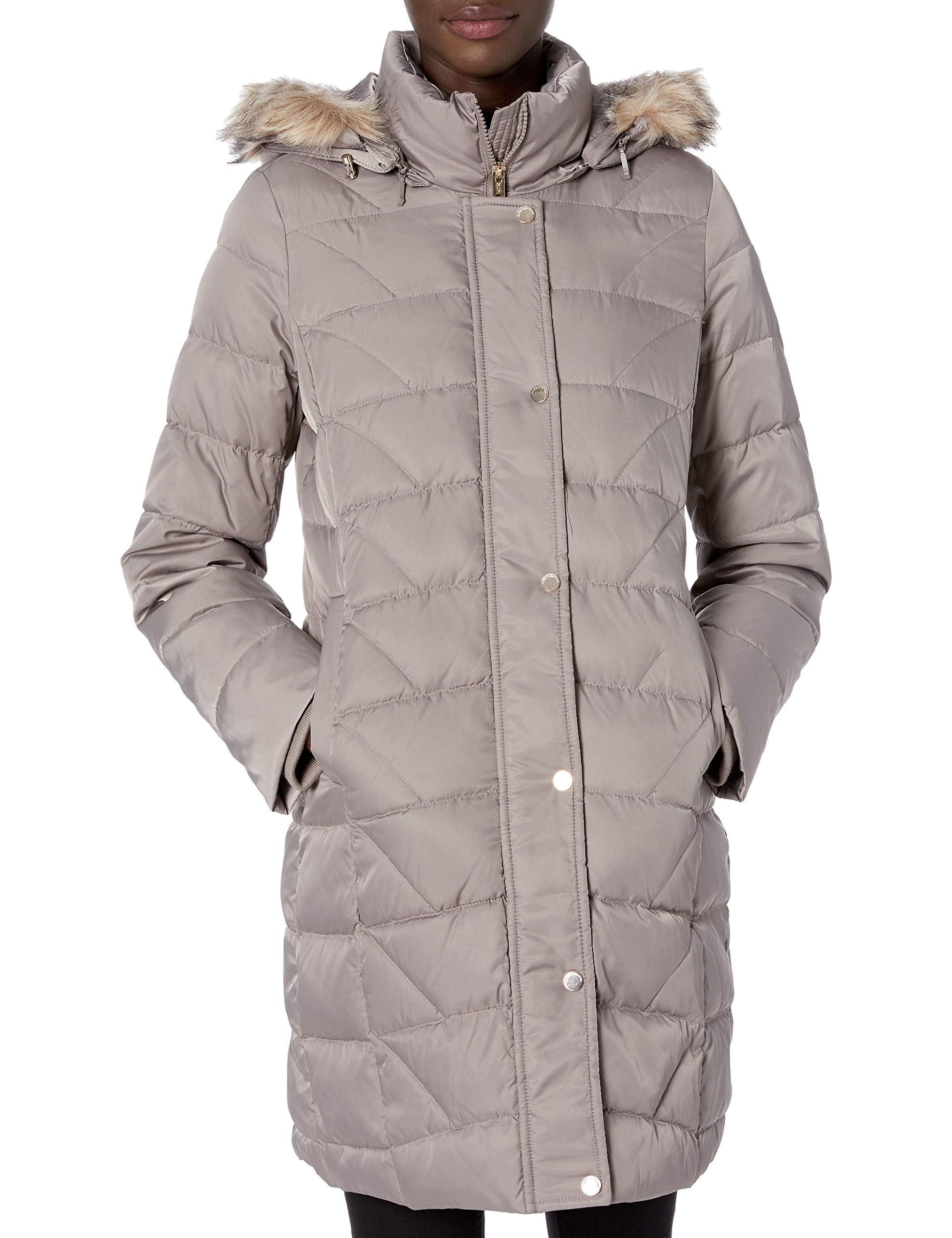 Marc New York by Andrew Marc womens Macoya Mixed Media Hooded Jacket With Removable Hood