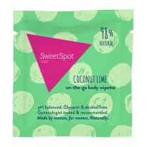 SweetSpot Labs Natural, pH Balanced Single Personal Wipettes Coconut Lime, 500 Count | Dermatologist & Gynecologist Tested