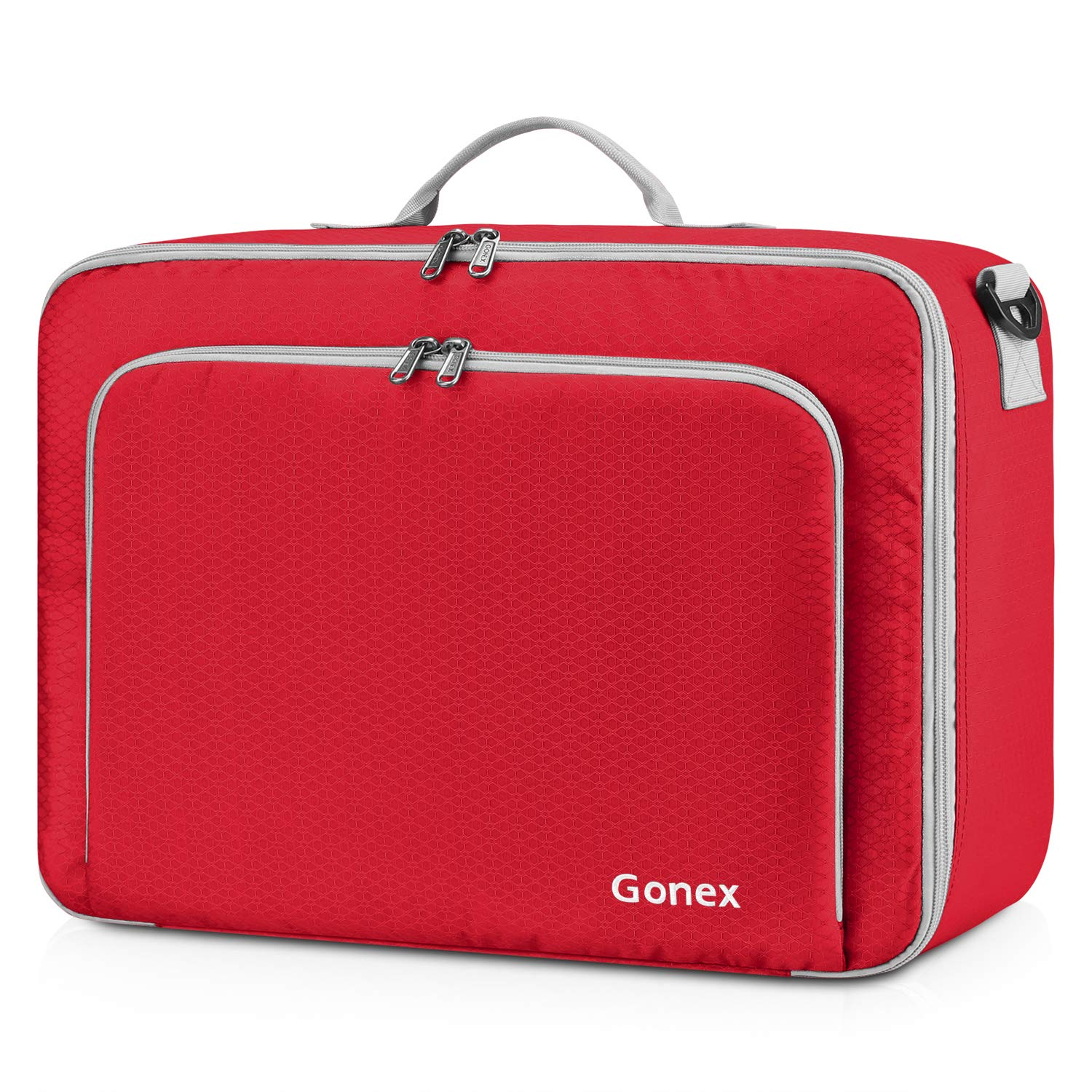 Gonex Travel Duffel Bag, Portable Carry on Luggage Personal Item Bag for Airlines, Water& Tear-Resistant 20L Red