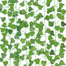 COCOBOO Fake Ivy Garland 6pcs Fake Leaves Artificial Silk Ivy Vine Garland Greenery Hanging Plant for Wedding Wall Party Bedroom Aesthetic Decor