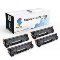Spektrum Toner Compatible Cartridge Replacement (4-Pack) for HP 85A (Black) CE285A /CE285D for Laserjet Pro P1102w Pro P1109w P1102 M1212nf M1217nfw MFP M1212 M1217 M1132