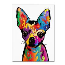 Chihuahua Dog White by Michael Tompsett, 14x19-Inch Canvas Wall Art