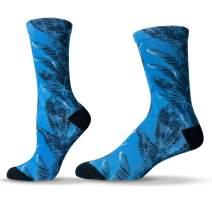 Unisox Floral Socks - Colorful Graphic Flower & Tropical Print Unisex Socks