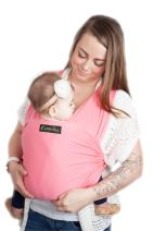 9-in-1 CuddleBug Baby Wrap Sling + Carrier - Newborns & Toddlers up to 36 lbs - Hands Free - Gentle, Stretch Fabric - Ideal for Baby Showers - One Size Fits All (Pink)