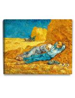 DECORARTS - Noon: Rest from Work, Vincent Van Gogh Reproductions. Giclee Canvas Print Wall Art for Home Wall Decor. 30x24x1.5