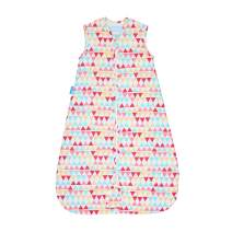 Tommee Tippee Grobag Newborn Baby Cotton Sleeping Bag, Sleeping Sack - Light 1.0 Tog for 69-74 Degree F - Zig Zag - Small Size, 0-6 months, Rouge