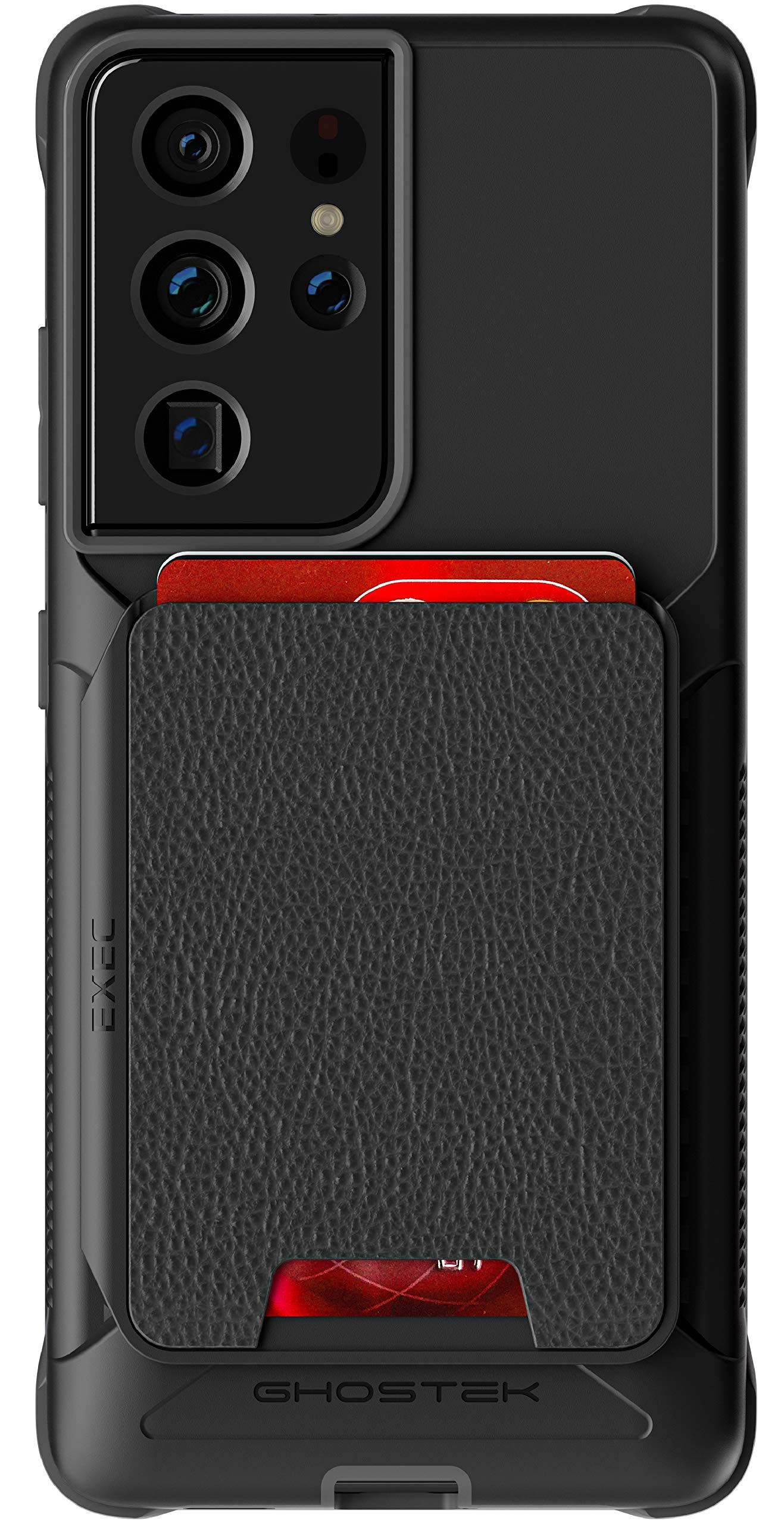 Ghostek Exec Galaxy S21 5G Wallet Case with Credit Card Holder and Magnetic for Cars Magnet Mounts Detachable Leather Pocket Protective Phone Cover for 2021 Galaxy S21 5G (6.2 Inch) (Phantom Black)