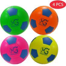Macro Giant 6 inch (Diameter) Safe Soft Foam Soccer, Set of 4, Beginner, Training Practice, Kickball, Kids Toys