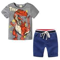 Baby Boys Summer Clothes Set 2pcs Cotton Shirt + Short Pants Kids Outfit Set